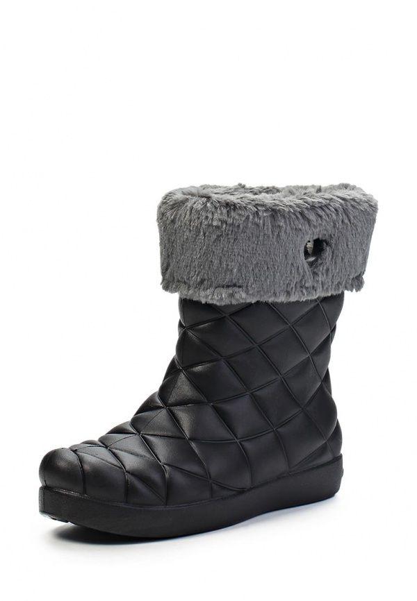Полусапоги Crocs / Крокс для девочек. Цвет: черный. Материал: искусственный материал. Сезон: Весна-лето 2014. С бесплатной доставкой и примеркой на Lamoda. http://j.mp/1nJfzZk