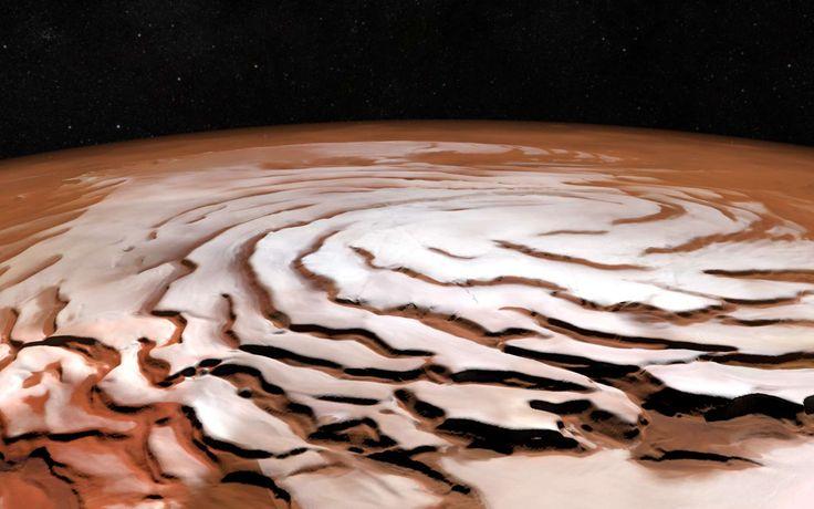 C'est parti pour un tour du pôle nord de Mars ! Cette vidéo, réalisée par le groupe de Sciences planétaires et de télédétection de l'université libre de Berlin, a été constuite à partir des images...