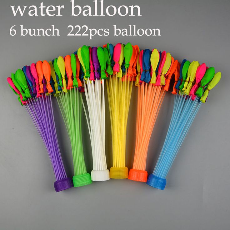 Mutil color 6 Bunches  222 Water Balloons For huge water balloon fights fast  #Unbranded