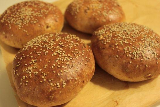 Hamburgerbröd med dinkel