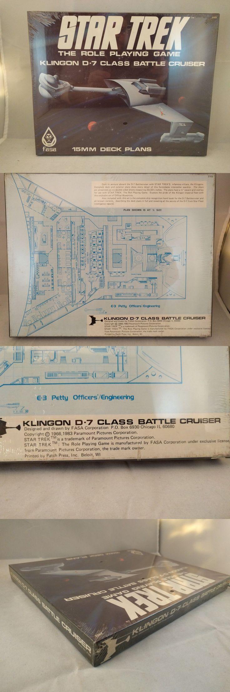 Science Fiction 2547: Star Trek Rpg Klingon D-7 Class Battle Cruiser 15Mm Deck Plans Fasa *In Shrink* -> BUY IT NOW ONLY: $79 on eBay!