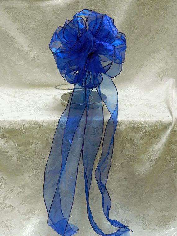 Royal Blue Wedding/ Pew Bows set of 10 by creativelycarole on Etsy, $90.00 Keywords: #weddings #jevelweddingplanning Follow Us: www.jevelweddingplanning.com  www.facebook.com/jevelweddingplanning/