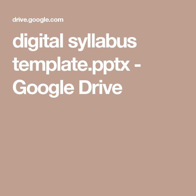 The 25+ best Syllabus template ideas on Pinterest High school - contact info template