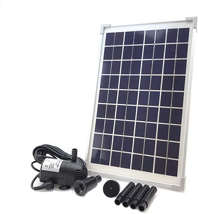 Amazon Com Aeo Solar Water Pump Kit 12v 24v Dc Brushless Submersible 196gph Water Pump With 10w Sol In 2020 Solar Water Pump Solar Powered Water Pump Solar Fountain