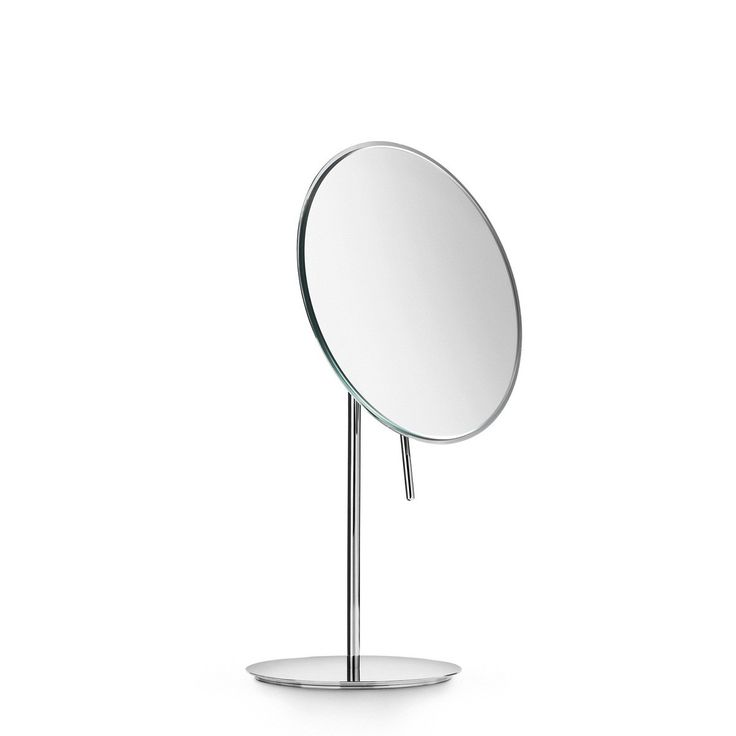 Create Photo Gallery For Website Luxurious high end modern designer free standing bathroom magnifying mirror with handle to adjust mirror