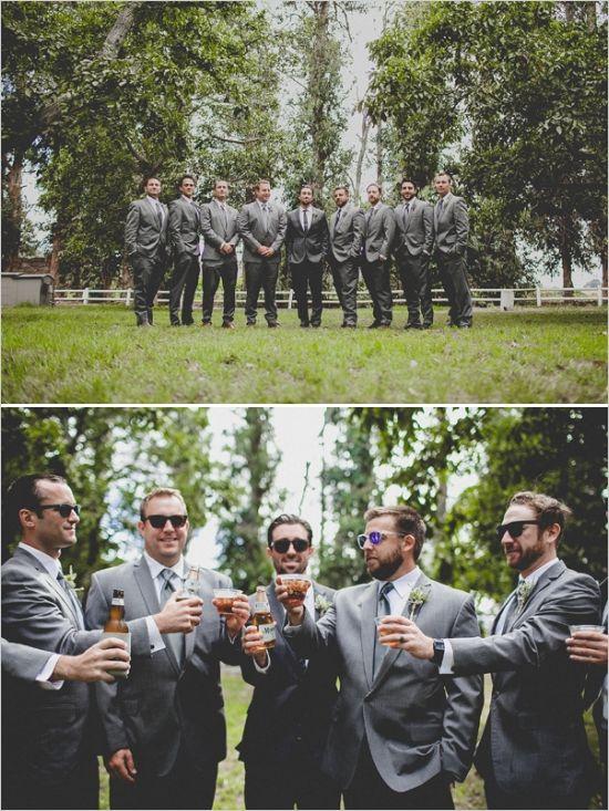 dark gray groomsmen looks #groomsmen #groomattire #weddingchicks http://www.weddingchicks.com/2014/02/12/california-ranch-wedding/