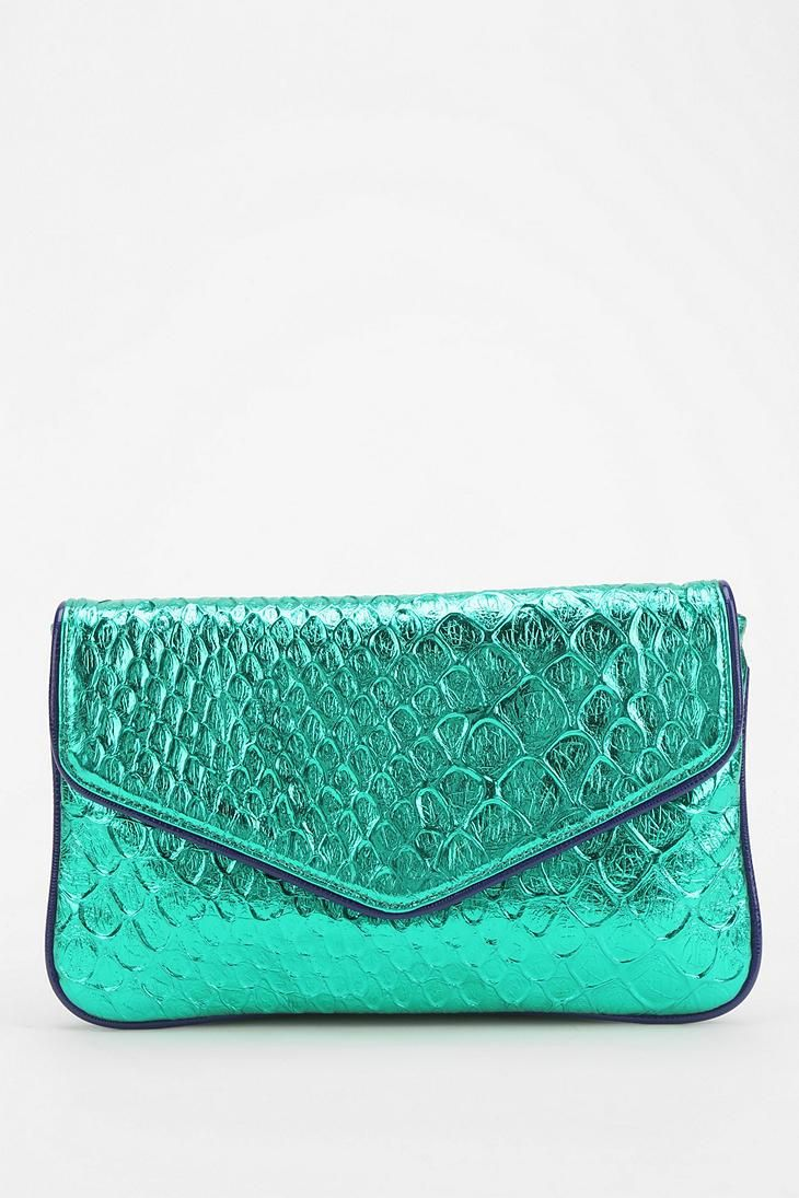 Deux Lux Mermaid Metallic Clutch urbanoutfitters