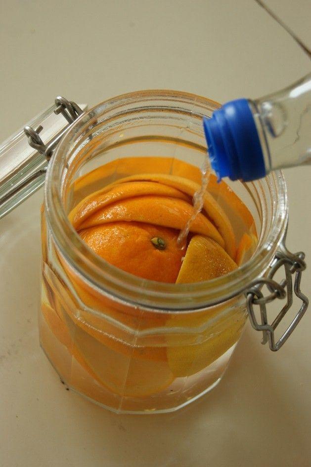 Dieser Essigreiniger duftet nach Orange, statt nach Essig zu stinken! DIY Putzmittel Tutorial: plastikfrei, grün, toxinfrei, wirkungsvoll!