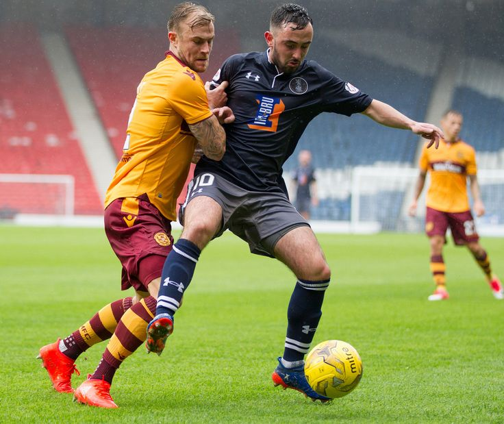 Queen's Park's Anton Brady in action during the Betfred Cup game between Queen's Park and Motherwell.