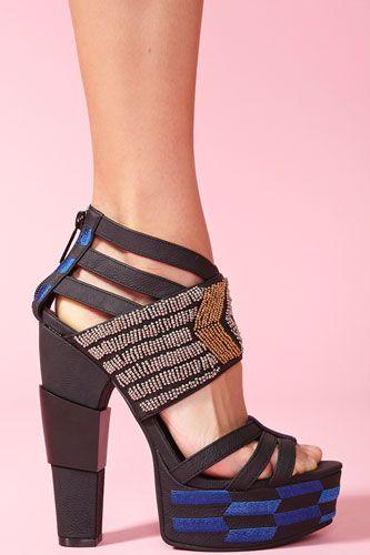 StyleBlazer Shoe Spotlight: Nasty Gal Nairobi Platform Sandals