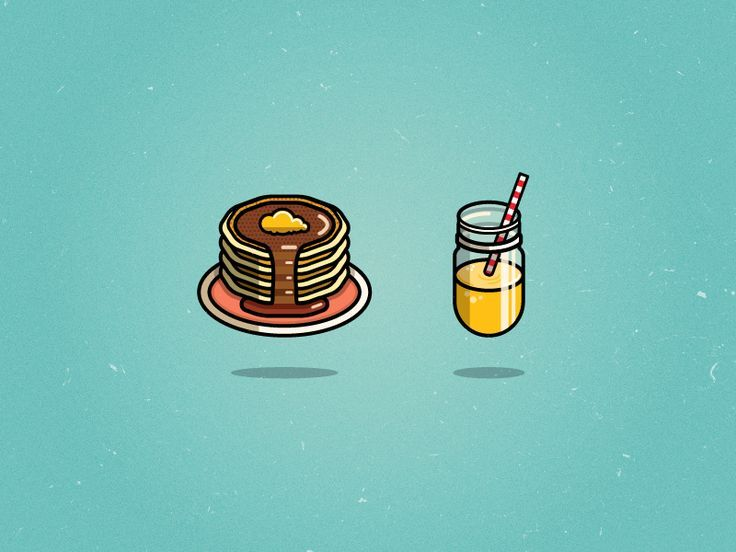 A snow day means pancakes for every meal.