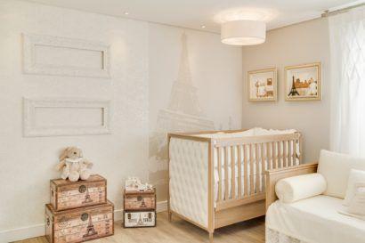 quartos de bebês criativos inspirado em Paris