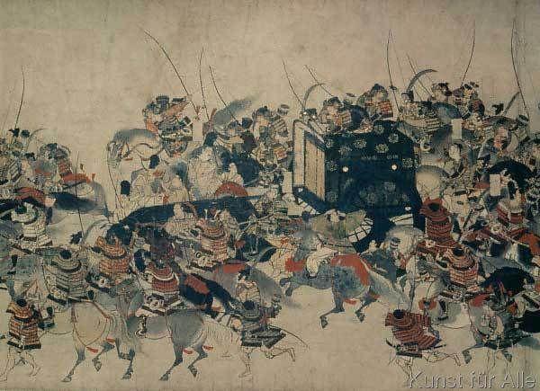 Japanische Geschichte - Schlacht Heijan-Aufstand 1159 / Jap.Mal.