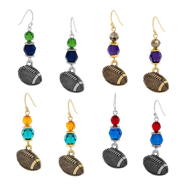 Create a pair of earrings to show off your Team Spirit for your favorite NFL football team! #NFLFootballBoys