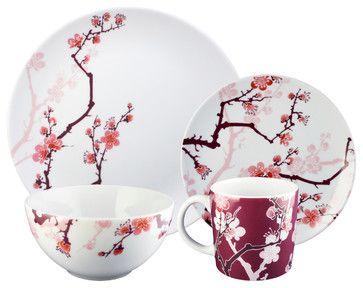 Cherry Ink 16-piece Dinnerware Set by Paul Timman asian dinnerware sets