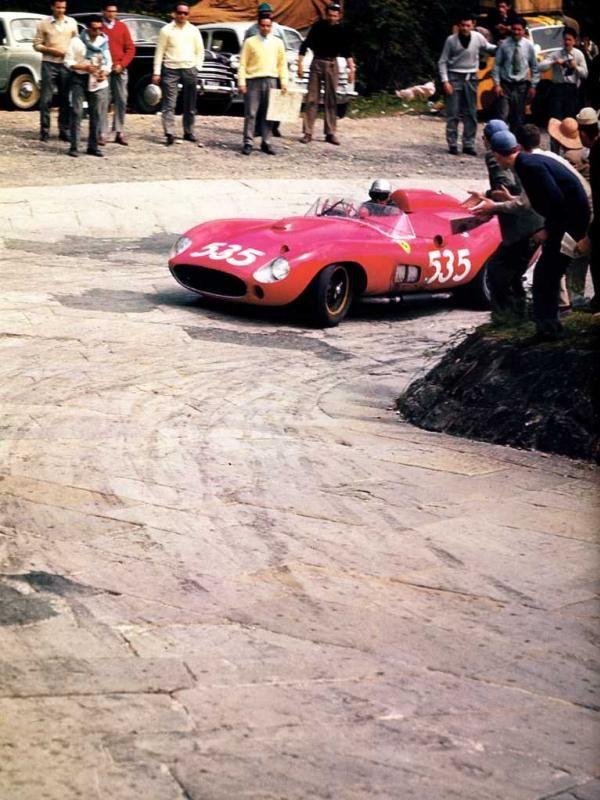 1957 MILLE MIGLIA - Ferrari 315 S. Entrant: Scuderia Ferrari. Driver: Piero Taruffi.Place: 1st o/a.