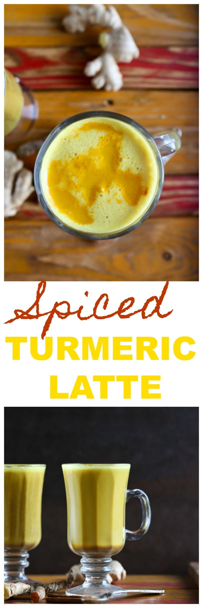 A delicious vegan dairy-free Spiced Turmeric Latte full of immune-boosting vitamins and anti-inflammatory benefits! Made with fresh turmeric and ginger and nutmeg, cinnamon, black pepper and vanilla for a delicious and creamy latte! via @thevegan8