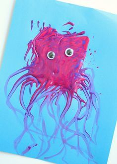 Preschool Jellyfish Craft for Letter J Week or Summer Theme Activity