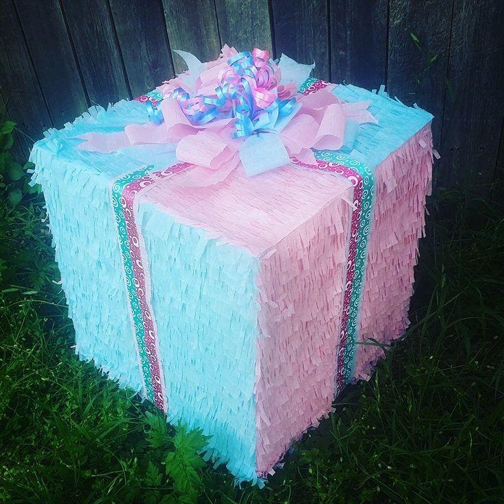 Gender Reveal gift box pinata!