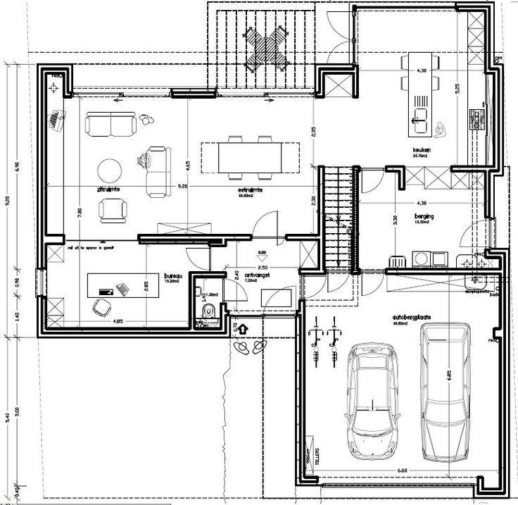 Voorontwerp t vorm google zoeken architecture pinterest garage bureaus and search - Plan indoor moderne woning ...