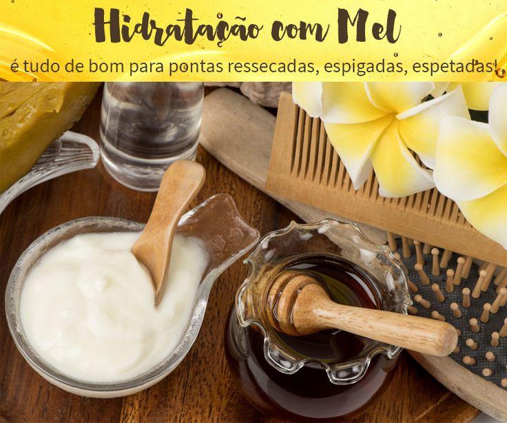 Receita caseira poderosa de hidratação com mel para acabar com as pontas ressecadas, espigadas, porosas e detonadas. Pra usar e amar!