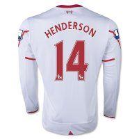 15-16 Liverpool Football Shirt Cheap HENDERSON #14 Long Sleeve Away Replica Jersey [C188]