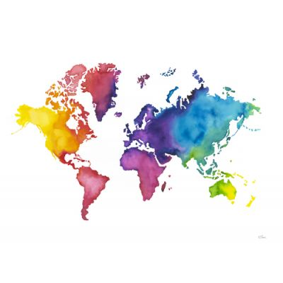 Wall Art Prints - Colours Of The World Map