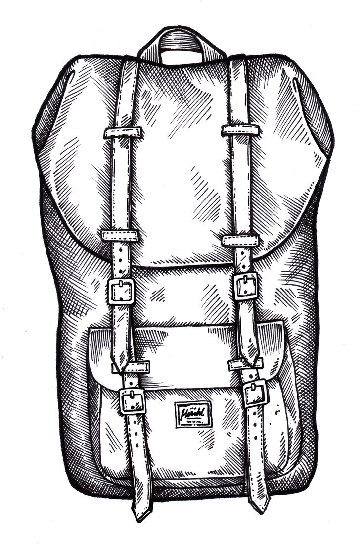 Herschel!  #herschel #backpack #illustration