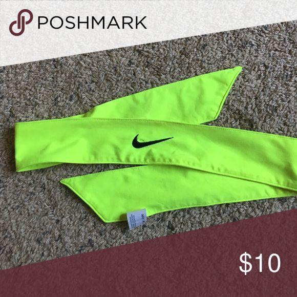 Nike neon green tie headband Nike neon green tie headband Nike Accessories