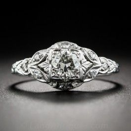 .50 Carat Art Deco Diamond Engagement Ring - What's New