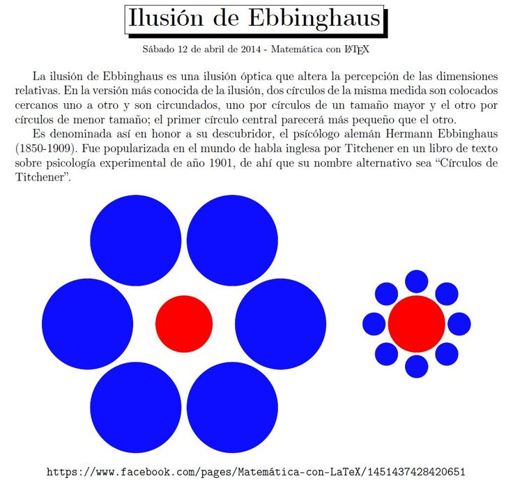 Optical illusion by Ebbinghaus. http://www.facebook.com/matematicaconlatex