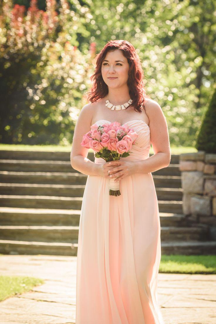 Glowing bridesmaid, backlit portrait at Parkwood Estates - Oshawa wedding photography