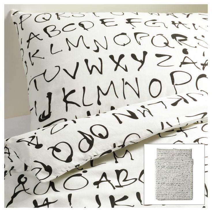 ALPHABET  ---   EIVOR ORD Duvet cover and pillowcase(s) - Full/Queen (Double/Queen) - IKEA