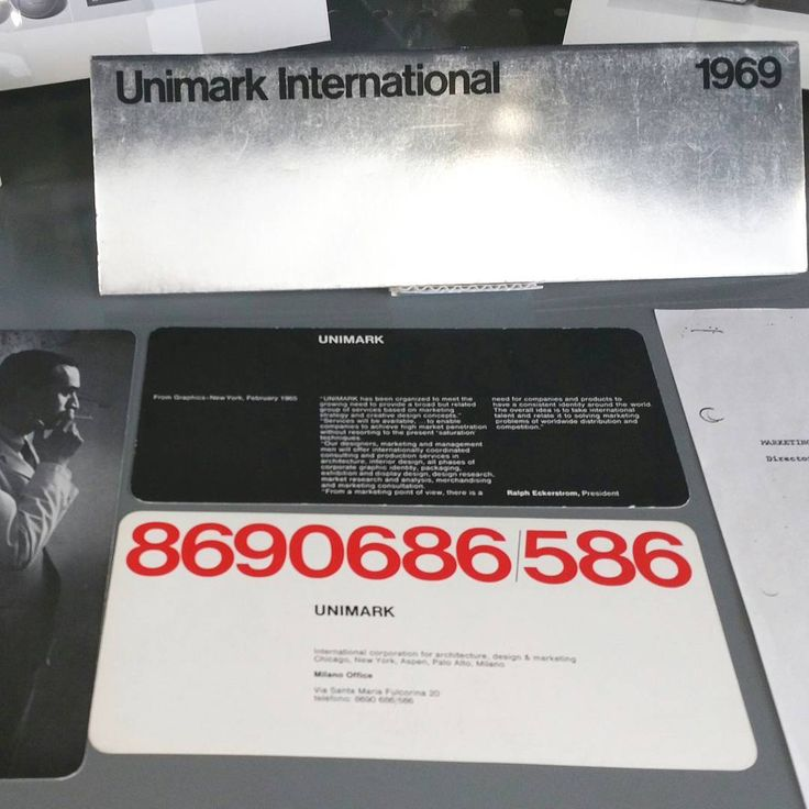 """""""A selection of #Unimark International artifacts on view in the #archives, including a set of…"""""""
