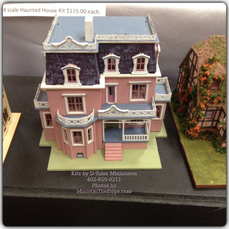 Dollhouse Miniatures Chicago: D-Tales Miniatures 1/144th Scale Dollhouse Kits. Open Back