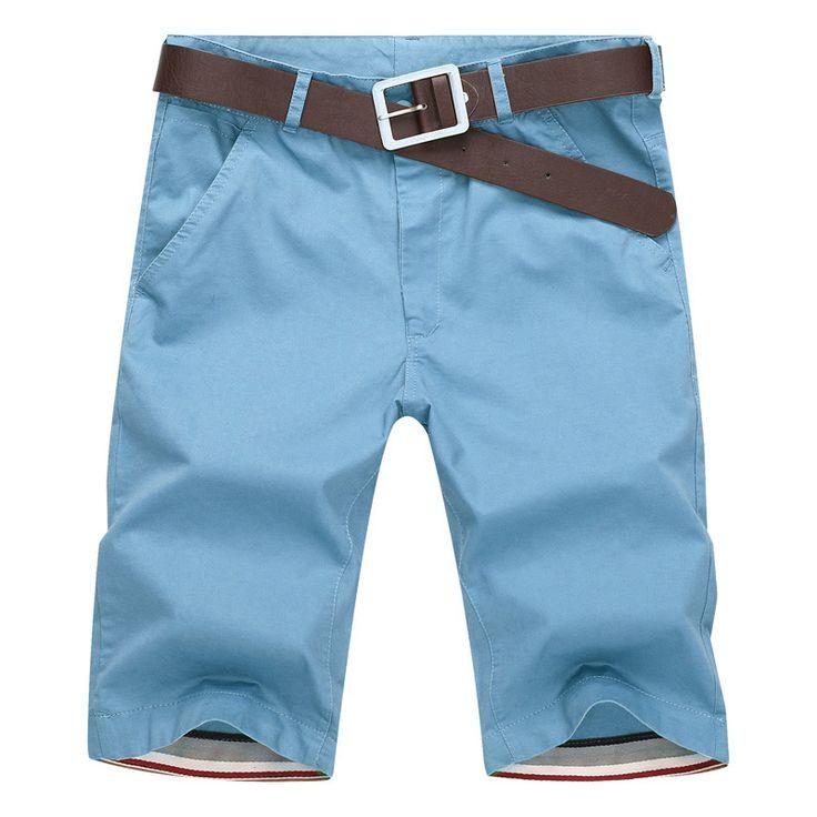 Shorts Hommes 2016 D'été De Mode Hommes Shorts Casual Coton Mince Bermudes Masculina Plage Shorts Joggeurs Pantalon Genou Longueur Short