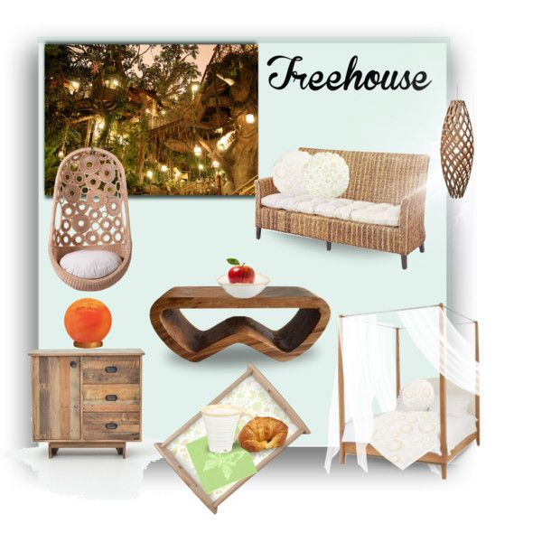 Treehouse by fallforit on Polyvore featuring #pastelcolored #homedecorations by #KBMD3signs available at #zazzle http://www.zazzle.com/fallforit*?tc=pin