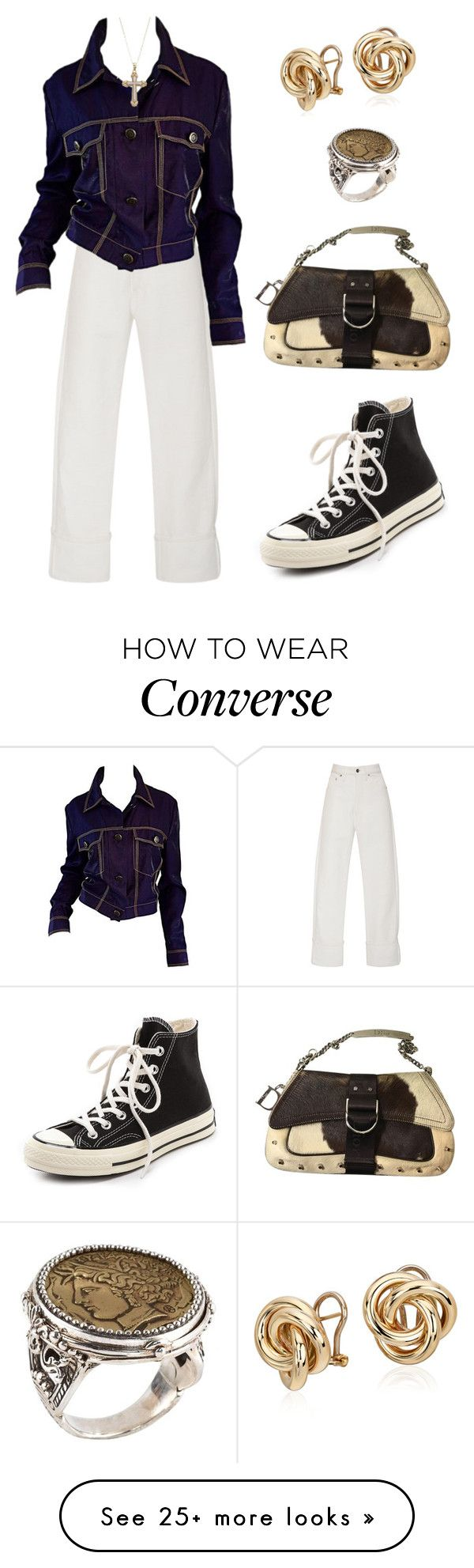 """Untitled #839"" by lucyshenton on Polyvore featuring Adam Selman, Blue Nile, Christian Dior, Konstantino and Converse"