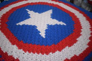 C2C Captain America afghan - Great for kids!