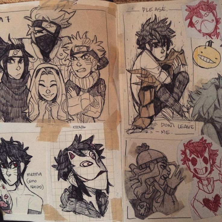 Ayy sketchbook page, first time I finished one in a while
