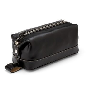 Leather Wash Bag - Aspinal of London