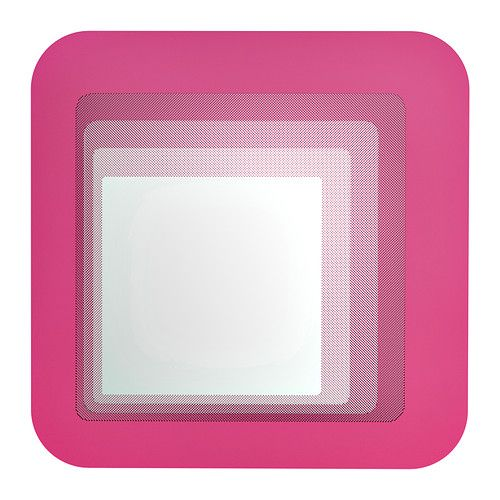 HYLKJE Mirror IKEA Safety film  reduces damage if glass is broken.  bright laundry room