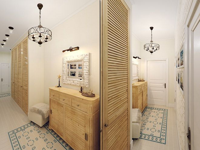Коридор. Интерьер трехкомнатной квартиры в средиземноморском стиле на ул.Типанова