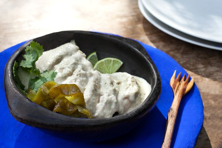 In case you didn't know, mole is the name for sauce in Mexico. This mole blanco…