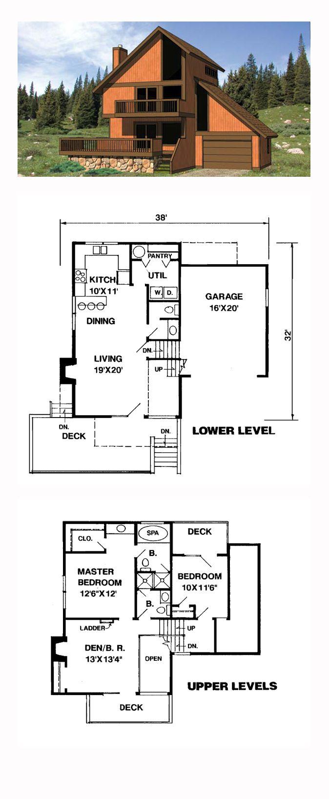 Bachelor 484 sq ft log home kit log cabin kit mountain ridge - Cabin Contemporary House Plan 94310