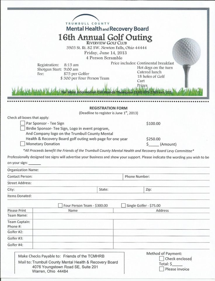 Golf outing  Family & Children First Council~ Trumbull County, Ohio
