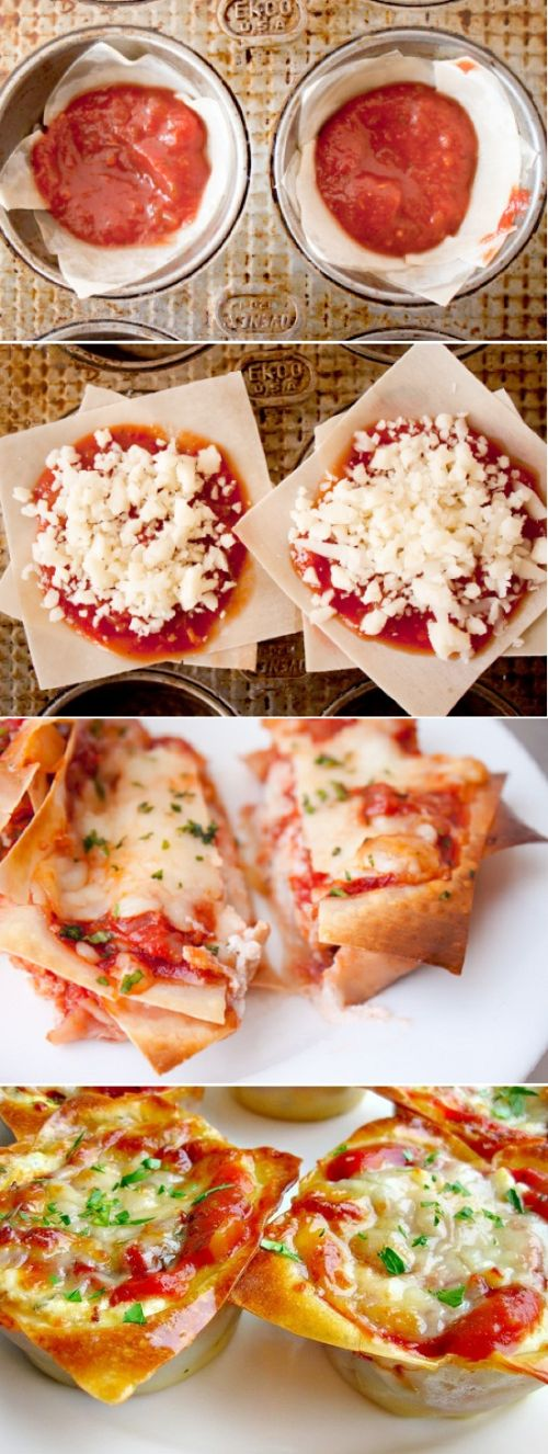 joysama images: Lasagna cupcake mini recipe