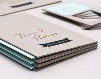 N wedding invitation