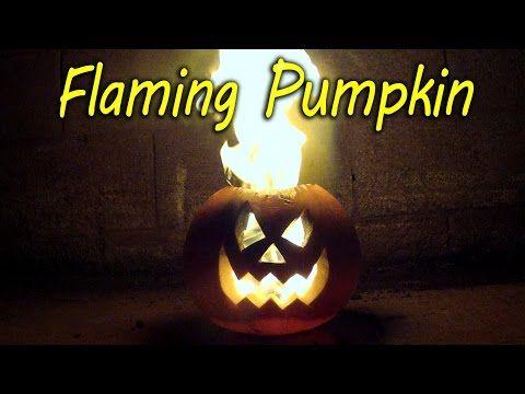 How to Make a Flaming Pumpkin - Halloween Jack o Lantern - YouTube