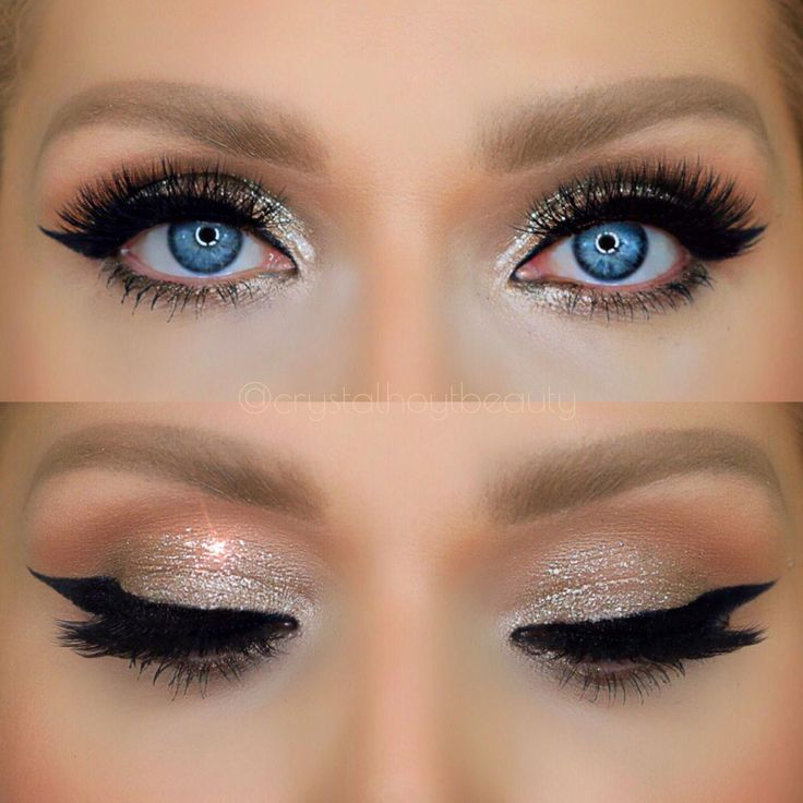 Easy Glitter Eye Makeup New Years Eve Makeup Party
